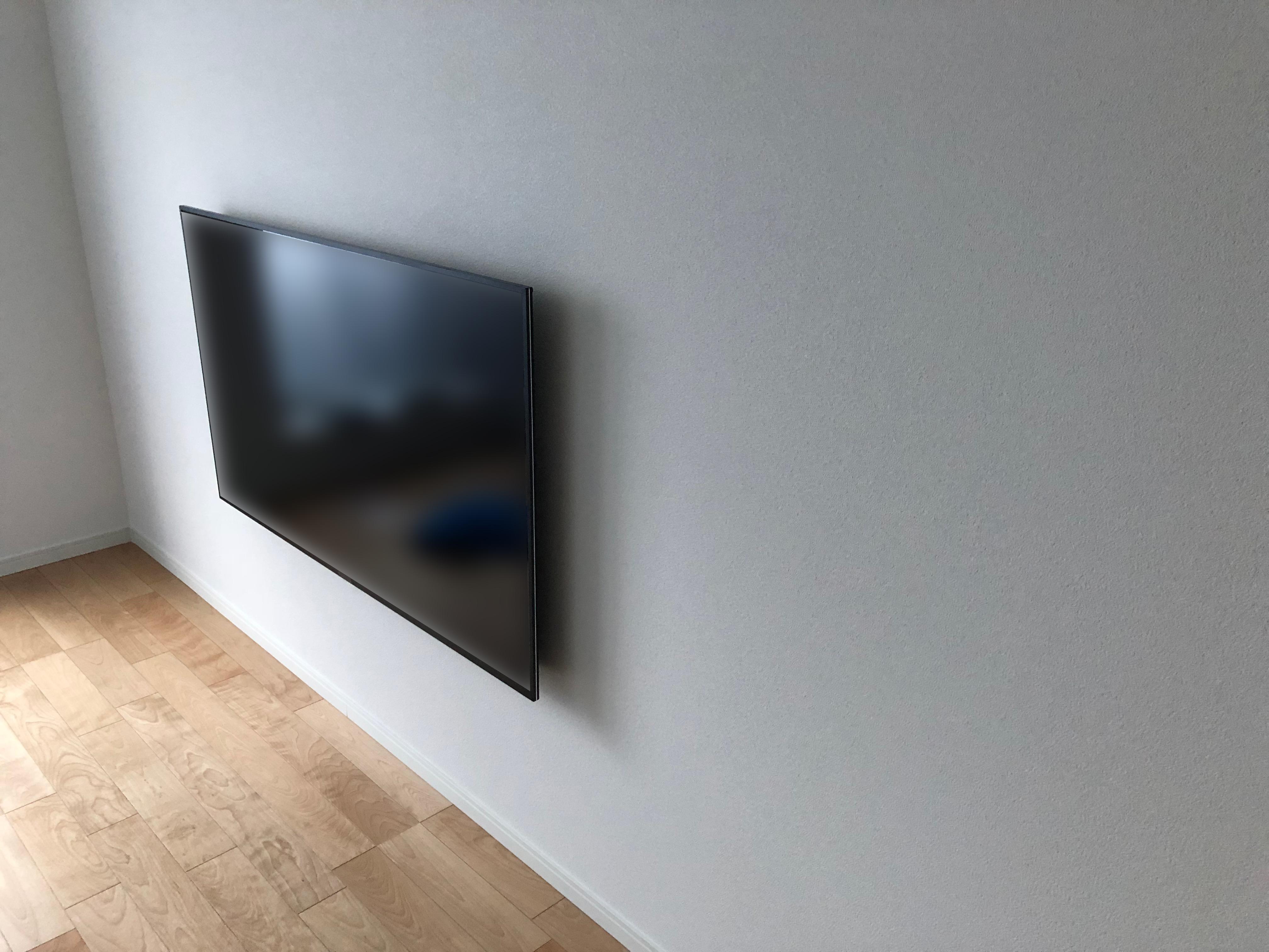 SONY x8500 テレビ壁掛け計画 施工編