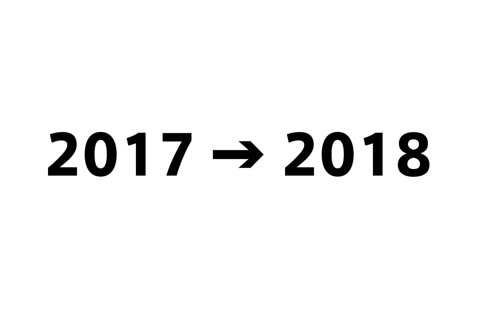 2017年総括と2018年計画